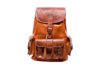 hecho handgefertigter Lederrucksack Marco, fair gehandelt Rucksack. Fair Trade Leather Bag. Backpack.