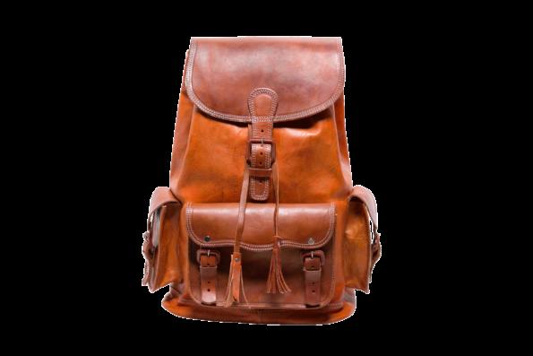 hecho handgefertigter Lederrucksack Marco, fair gehandelt Rucksack. Fair Trade Leather Bag. Backpack.