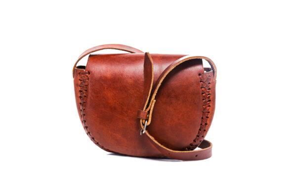 hecho Ledertasche Monique, handgefertigt, fair trade, handmade, leather bag, Schultertasche, Umhängetasche