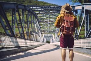 "Lederrucksack Cesare Leather Bag Backpack ""off to great places"""
