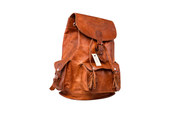hecho Lederrucksack Irene handgefertigt fair trade Backpack Leather Bag