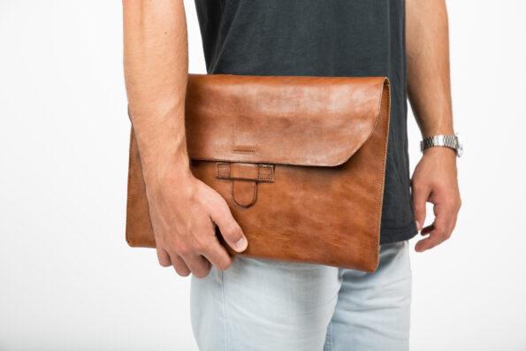 "hecho. handgemachte Ledertasche Lederhülle Tasche Hülle Sleeve Apple MacBook 12"" Case Protection, Fair Trade Leather Bag"