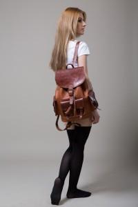 hecho. handgefertigter Lederrucksack Cesare, fair gehandelter Rucksack, fair Trade Leather Bag Pack