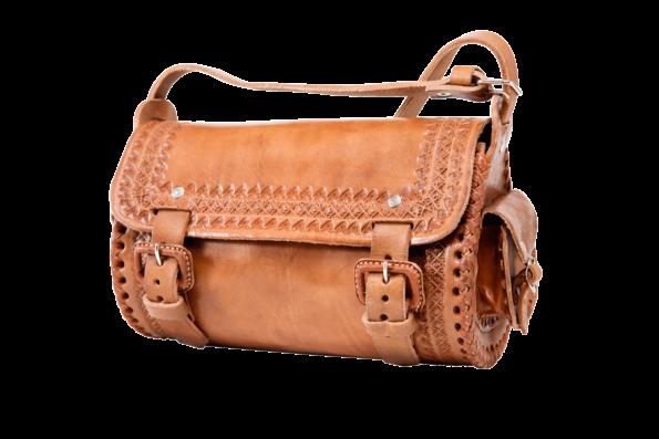 hecho Ledertasche Veroni, handgefertigt, fair trade, handmade, leather bag