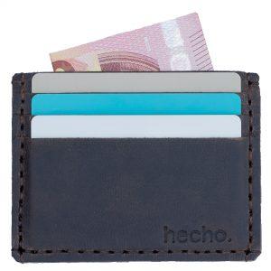 Handgefertigtes Kartenetui, handgefertigt aus echtem Leder. 6 Kartenfächer, 1 Scheinfach. Aus geeignet als Kartenetui Kartenhülle Kartenhalter Kreditkartenetui Kreditkarten Etuis Kreditkartenhülle Karten Etui Kreditkartentasche Ausweistasche Kreditkartenhalter.