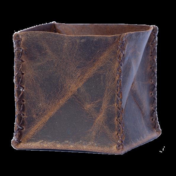 Handgefertigter Münzbeutel aus echtem Leder. Auch geeignet als Münzbeutel Münzbörse Minigeldbörse Kleingeldfach Kleingeldbörse.