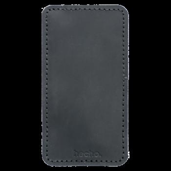 Lederhülle für Apple iPhone 6s, 7 & 8. Hülle, Tasche, Cover schwarz aus echtem Rinds Leder