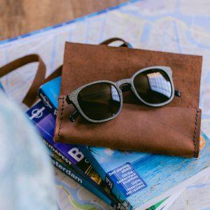 Brillen Etui für Sonnenbrillen und Tagesbrillen, handgefertigt aus echtem Leder